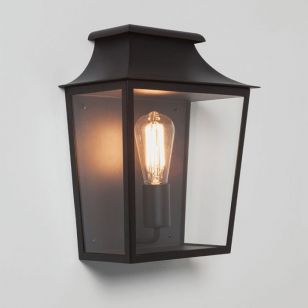 Astro Richmond Half Lantern Outdoor Wall Light - Black