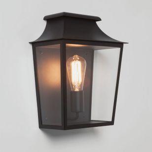 Astro Richmond Half Lantern Outdoor Wall Light - Black