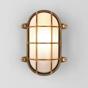 Astro Coastal Thurso Outdoor Flush Light - Natural Brass