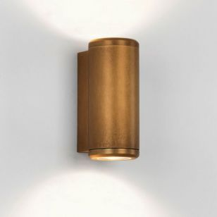 Astro Coastal Jura Outdoor Up & Down Wall Light - Antique Brass