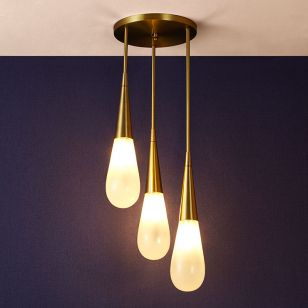 Edit Trinket 3 Light Cascade Ceiling Pendant - Opal Glass