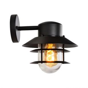 Lucide Zico Outdoor Wall Light - Black