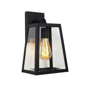 Lucide Large Matslot Outdoor Hanging Lantern Wall Light - Black