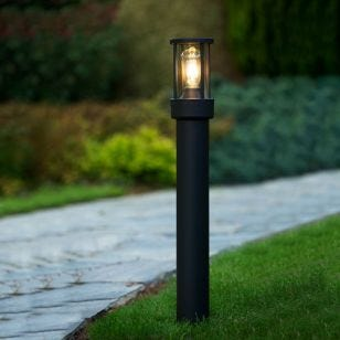 Lucide Lori Outdoor Post Light with Dusk to Dawn Sensor - Dark Anthracite