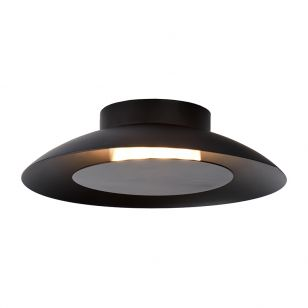 Lucide Foskal LED Flush Ceiling Light - Black