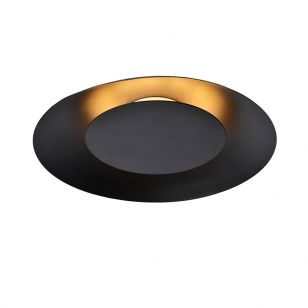Lucide Large Foskal LED Flush Ceiling Light - Black