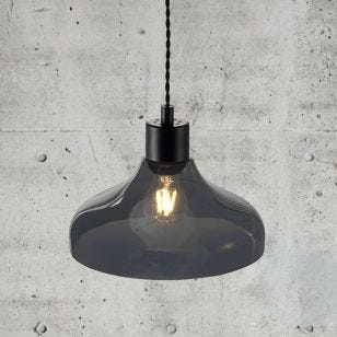 Nordlux Alrun Glass Ceiling Pendant Light - Smoked