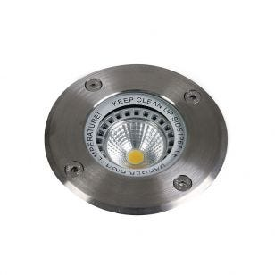Level Round Coastal Ground Light - Stainless Steel