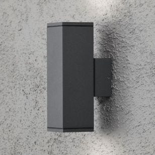 Konstsmide Monza Outdoor Up & Down Wall Light - Anthracite