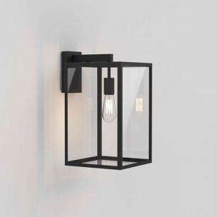Astro Box 450 Outdoor Hanging Lantern Wall Light - Black