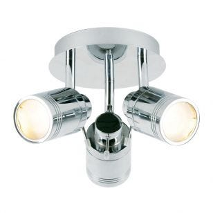 Scorpius 3 Light Spotlight Plate - Chrome