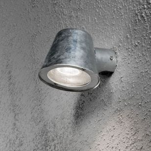Konstsmide Trieste Outdoor Wall Light - Galvanised Steel