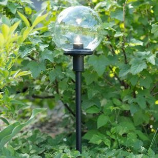 Garden 24V Globe LED Stake Light - Black
