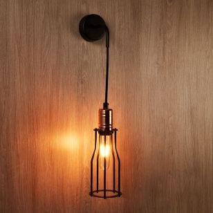 Edit Workshop Slim Wall Light - Black and Copper
