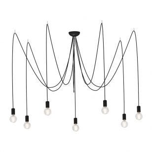 Edit Spider 7 Arm Ceiling Pendant Light - Black
