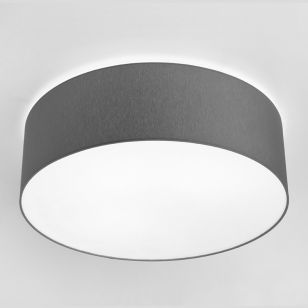 Edit Large Cameron Flush Ceiling Light - Grey