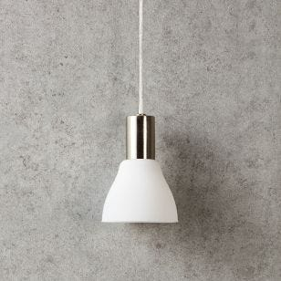 Vero Ceiling Pendant Light with Plug - Steel