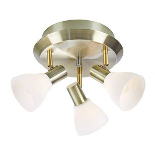 Vero 3 Light Spotlight Plate - Antique Brass