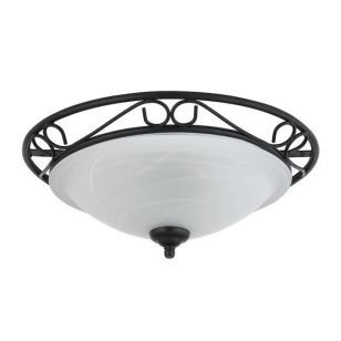 Edit Noble Flush Ceiling Light - Black