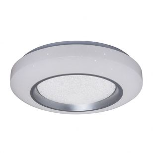 Edit Norwich LED Flush Ceiling Light with Remote Control - White