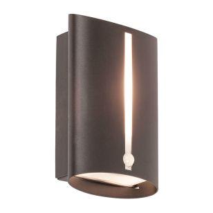 Edit Baltimore Outdoor Flush Wall Light with PIR Sensor - Black
