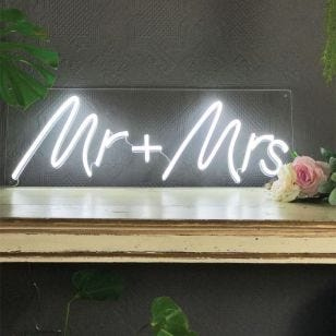 Mr & Mrs LED Neon Feature Light
