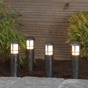Edit Birch LED Garden Post Light Kit - 4 Lights