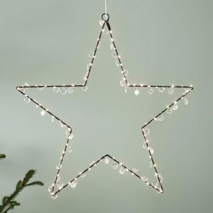 Edit Evie Beaded Multi-Function LED Hanging Star Decoration