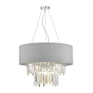Dar Halle Ceiling Pendant Light - Grey