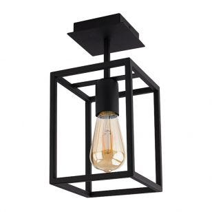 Edit Crate Semi-Flush Ceiling Light - Black