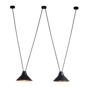 Edit Swing 2 Light Ceiling Pendant - Black
