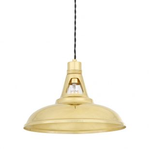 Mullan Geneva Ceiling Pendant Light - Polished Brass