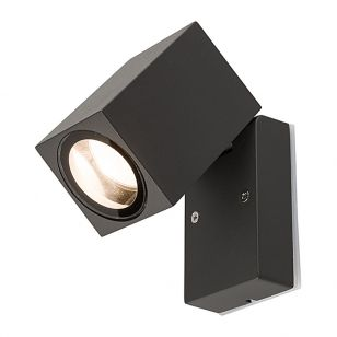 Edit Primm Outdoor Wall Mounted Spotlight - Black