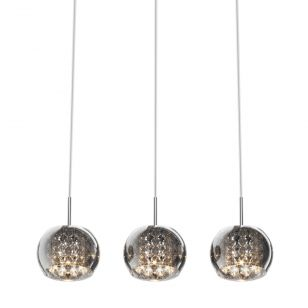 Edit Belgravia 3 Light Glass Bar Ceiling Pendant - Crystal
