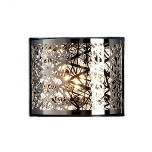 Edit Hilton Flush Wall Light - Chrome