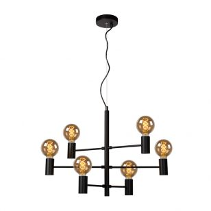 Lucide Leanne 6 Arm Ceiling Pendant Light - Black