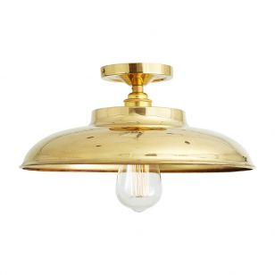 Mullan Telal Semi-Flush Ceiling Light - Polished Brass