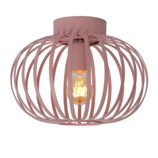 Lucide Merlina Flush Ceiling Light - Pink
