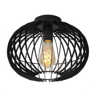 Lucide Reda Flush Ceiling Light - Black