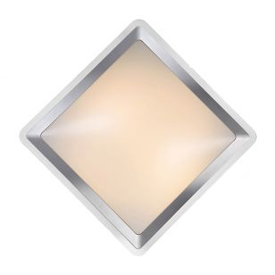 Lucide Gently LED Flush Ceiling Light - Satin Chrome