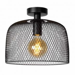 Lucide Mesh Semi-Flush Ceiling Light - Black