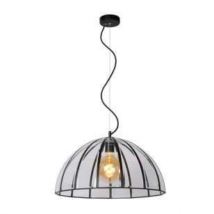 Lucide Timius Large Glass Ceiling Pendant Light - Black