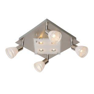 Lucide Kolla 8 Light Spotlight Plate - Satin Chrome