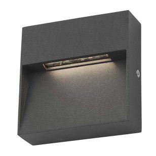 Dar Yukon LED Outdoor Wall Light - Anthracite