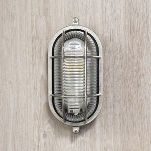 Edit Coastal Port Outdoor Flush Wall Light - Matt Nickel
