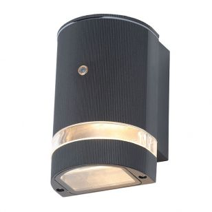 Forum Helios Outdoor Wall Light with Dusk to Dawn Sensor - Black