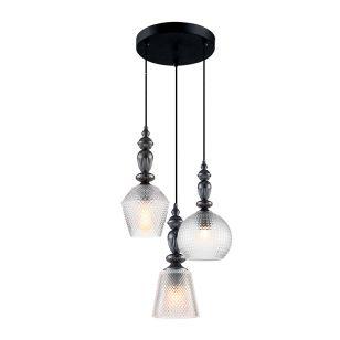 Edit Hirst 3 Light Glass Cascade Ceiling Pendant - Pewter