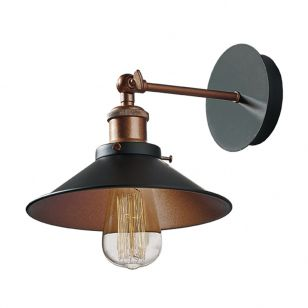 Edit Bench Wall Light - Black & Copper