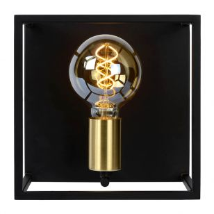 Lucide Ruben Flush Wall Light - Black & Gold