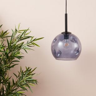 Edit Dimple Glass Ceiling Pendant Light - Blue
